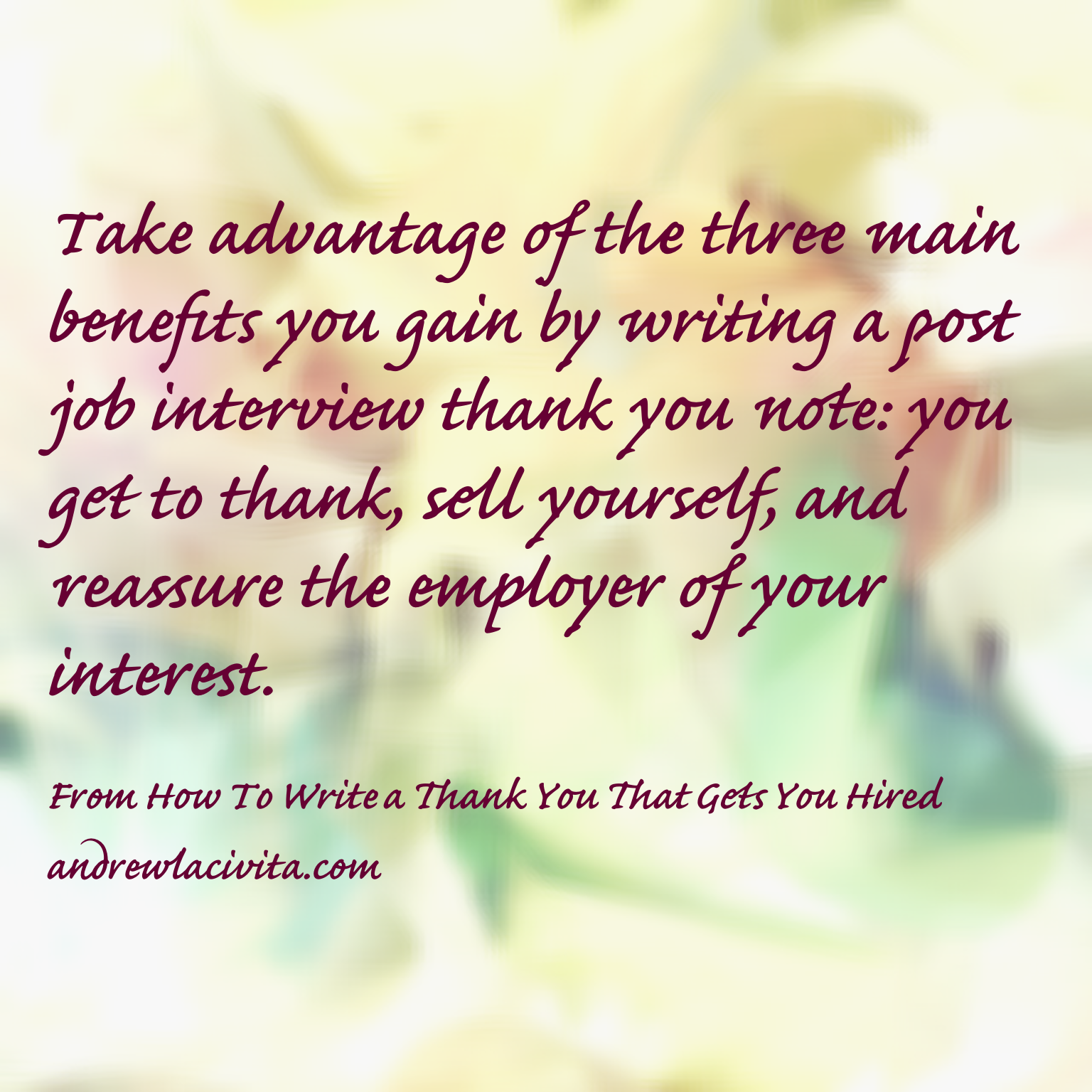 thank you note after getting hired
