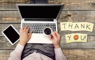 43256424 - thank you, gratitude, smiley face.