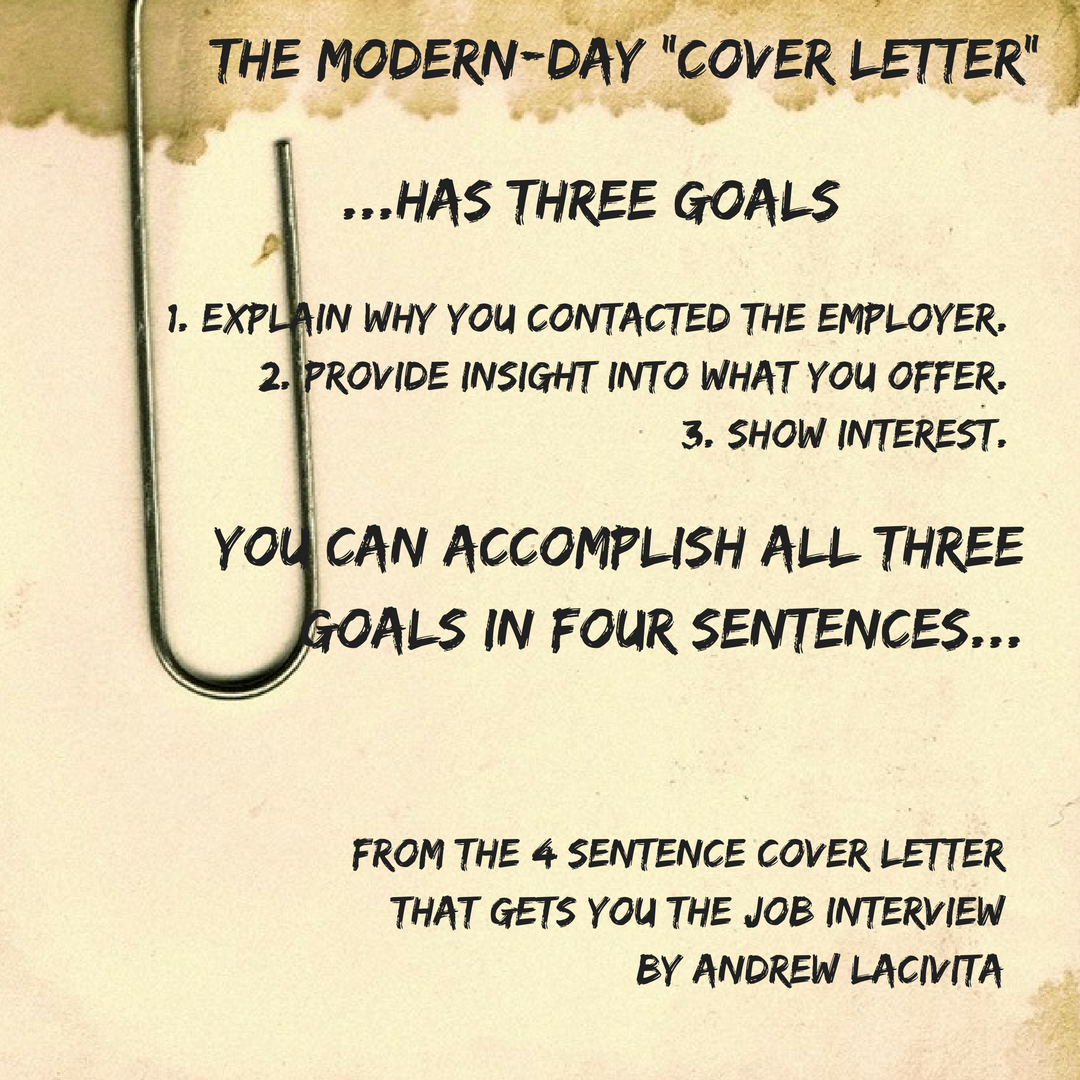 the 4 sentence cover letter that gets you job interview - Cover Letter Opening Sentence